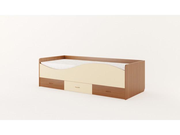 Кровать детская с ящиками «Волна» (КР-06)