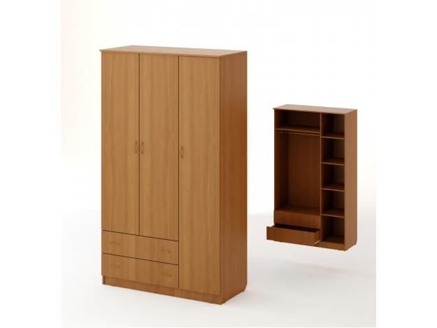 Шкаф распашной 3хстворчатый с 2 ящиками
