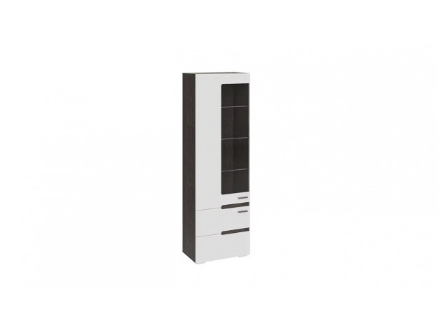 Шкаф для посуды «Фьюжн» ТД-260.07.25 венге/ белый глянец модуль 1
