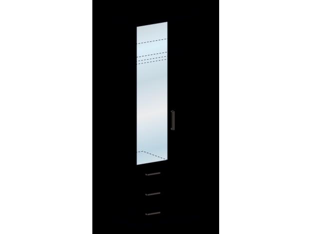 Шкаф двухстворчатый комби Яна ШК 751 модуль 2