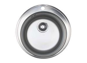 Мойка врезная нержавеющая сталь (круглая) D510 (Россия)