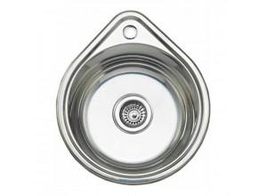 Мойка врезная нержавеющая сталь (капля) 450х390х0,8х180 (Россия)