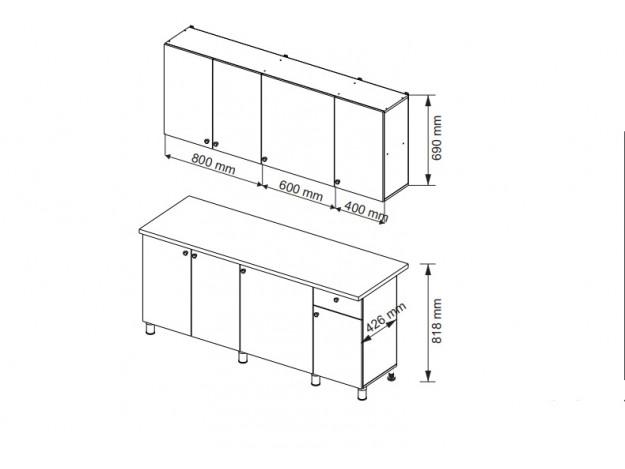 Кухонный гарнитур POINT-180 схема