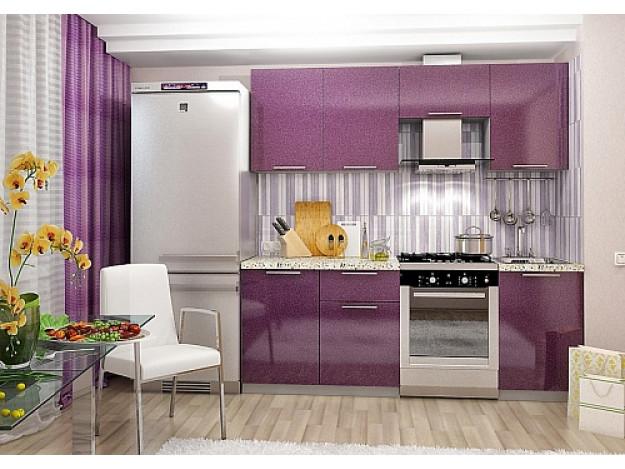 Кухня «София» (модульная) сиреневый металлик