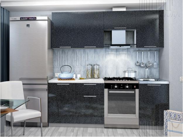 Кухня «София» (модульная) чёрный металлик