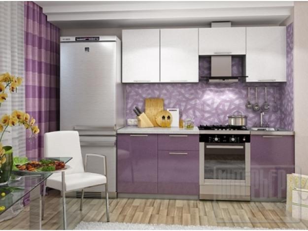 Кухня «София» (модульная) белый-сиреневый металлик