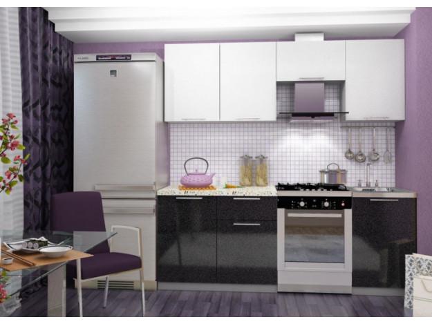 Кухня «София» (модульная) белый-чёрный металлик