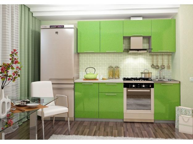 Кухня «София» (модульная) зелёный металлик