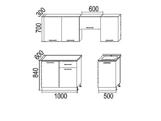 """Кухня """"Капля"""" (2.1м) (модульная)"""