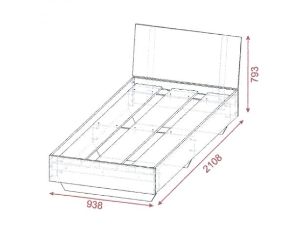 Модуль 2 - Кровать 900 x 2000 схема
