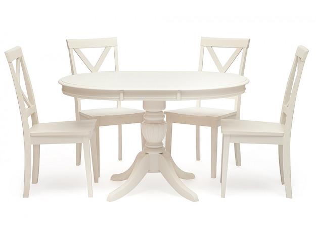 Стол обеденный раскладной BEATRICE NEW (массив гевеи)