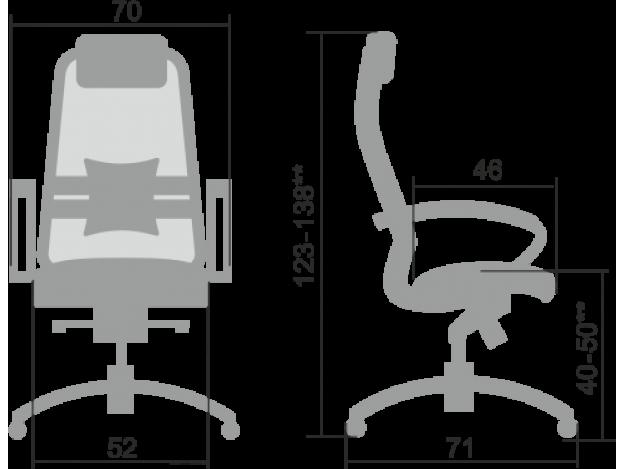 Кресло руководителя Samurai S-1.04