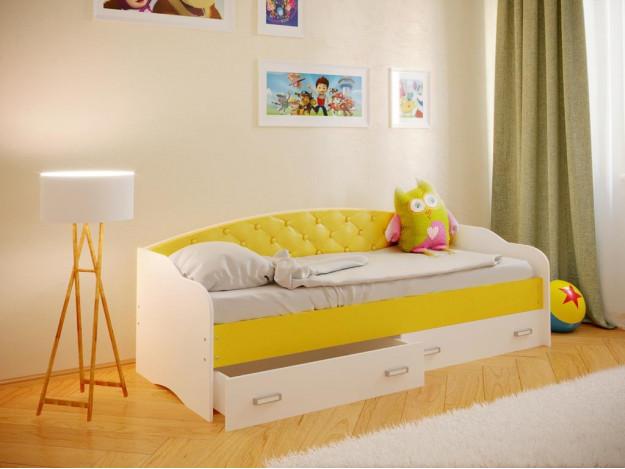 """Кровать """"Софа-8"""" с мягкой спинкой"""