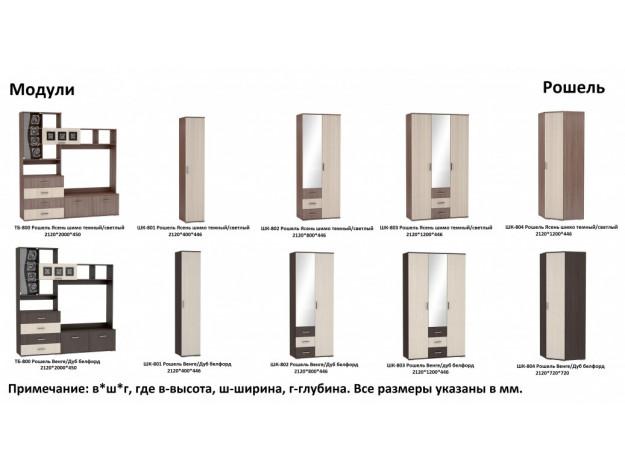 "Шкаф 2-створчатый ""Рошель"" ШК-802"
