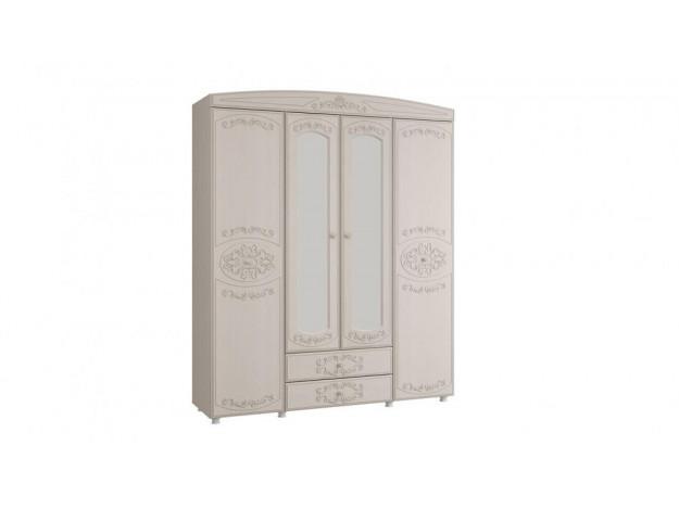 """Спальня """"Каролина"""" Шкаф 4-х дверный комбинированный с зеркалом"""