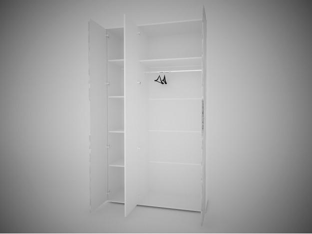 Модуль 10  Шкаф 3створчатый  с зеркалом