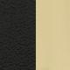 Черный/ Бежевый кожзам