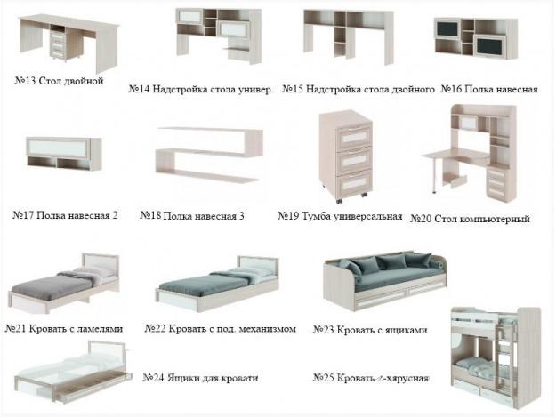 """Кровать двухъярусная """"Остин"""" (М25)"""