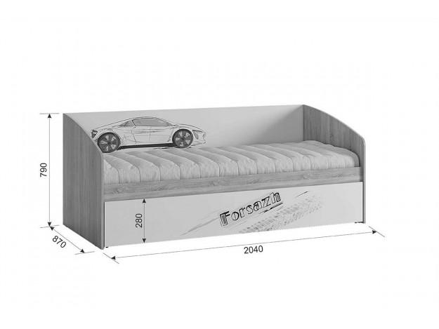 Кровать Форсаж схема