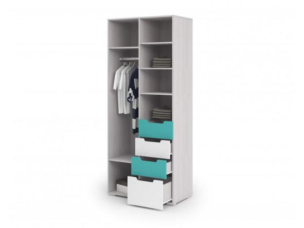 Шкаф 2-х дверный и 4 ящика Миа ШК 052 модуль 4