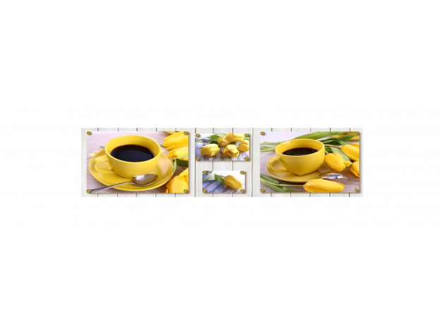 Декоративная панель AG-20 (Желтые тюльпаны)