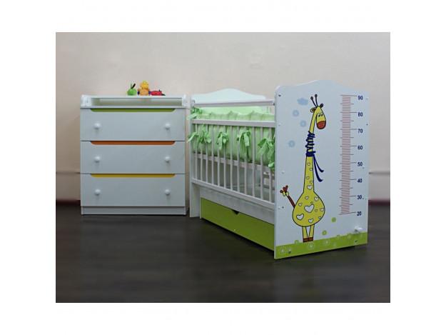 Кроватка детская «Жираф» (маятник)