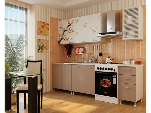 """Кухня """"Сакура"""" 2.0 м (фотопечать)"""