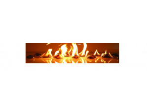 Декоративная панель VIP-037 (Огонь на камнях)