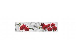 Декоративная панель ТОР-42 (Красные орхидеи)