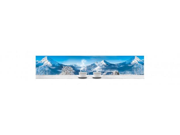 Декоративная панель BS-115 (Альпийские горы и чашечки)