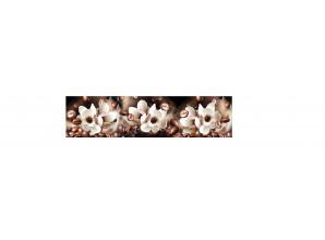 Декоративная панель AG-111 (Цветки магнолии и кофе)