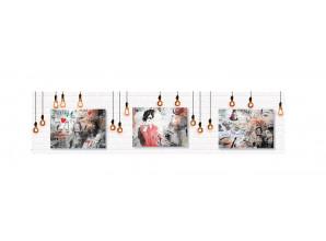Декоративная панель Лофт/ тиснение кирпич