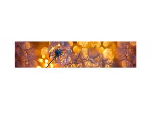 Декоративная панель Одуванчики золотистые №3 - мерцание серебро