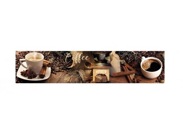 Декоративная панель Кофейная арабика - мерцание золото