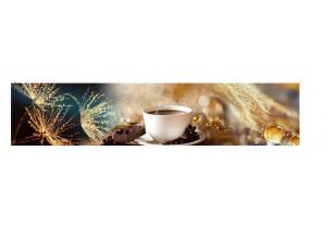 Декоративная панель Доброе утро - мерцание золото