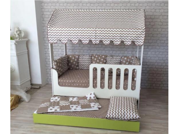 Кровать-Домик с выдвижным спальным местом