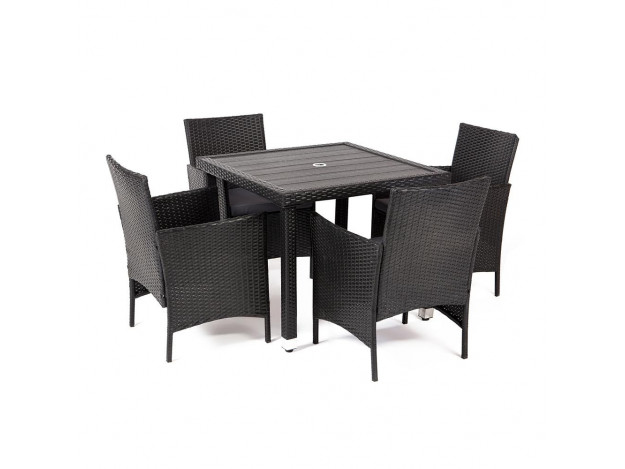 Обеденный сет (стол+4стула) (mod. 210036)