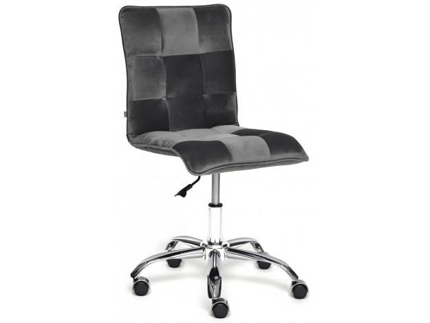 Кресло ZERO велюр, серый, T18