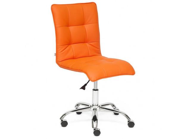 Кресло ZERO кож.зам, оранжевый, 14-43
