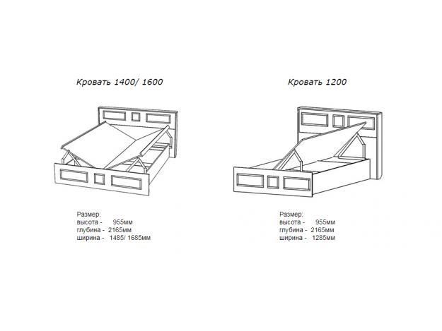 """Кровать """"Конго"""" (1.2/1.4/1.6)(подъёмный механизм)"""