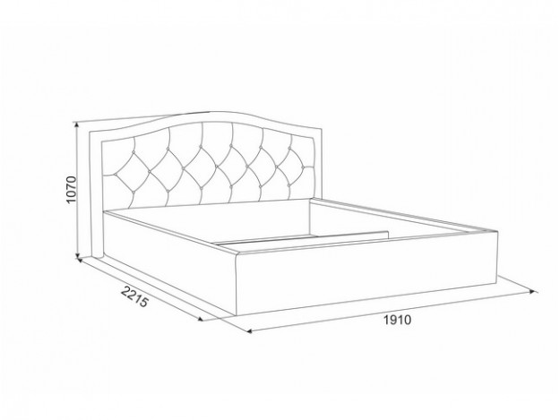 """Кровать """"Верона""""(1.6м)(ортопедическое основание)"""