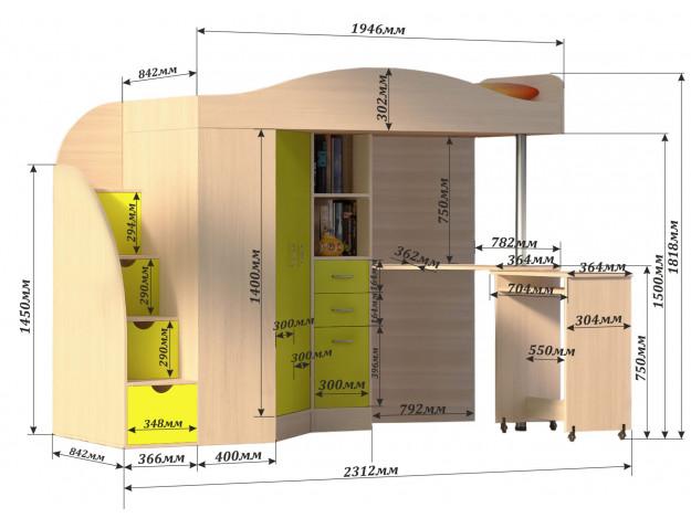 Кровать-чердак «Юниор-4»