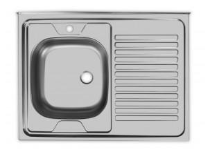 Мойка нержавеющая накладная «Юкинокс» STD-5 800*600мм б/в (L, R)