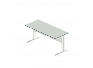 Стол прямой на металлокаркасе АМК-2(Агат)