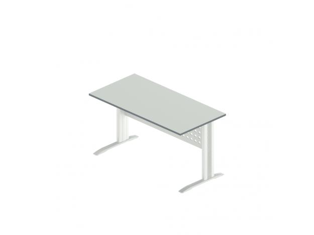 Стол прямой на металлокаркасе АМК-3 (Агат)